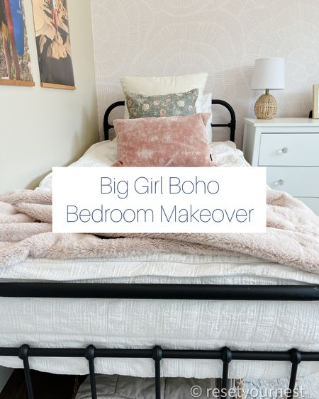 Ship this boho bedroom look for your big (little) girl! http://liketk.it/3kUUa @liketoknow.it #liketkit #LTKhome #LTKfamily @liketoknow.it.home @liketoknow.it.family