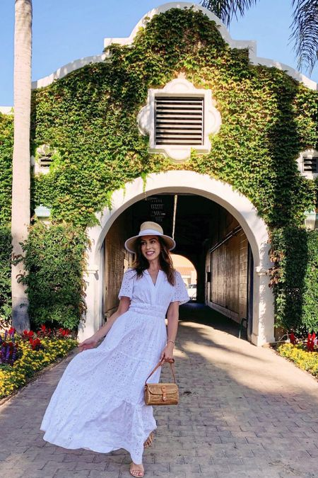 A white dress and hat for a day at the races  #LTKstyletip