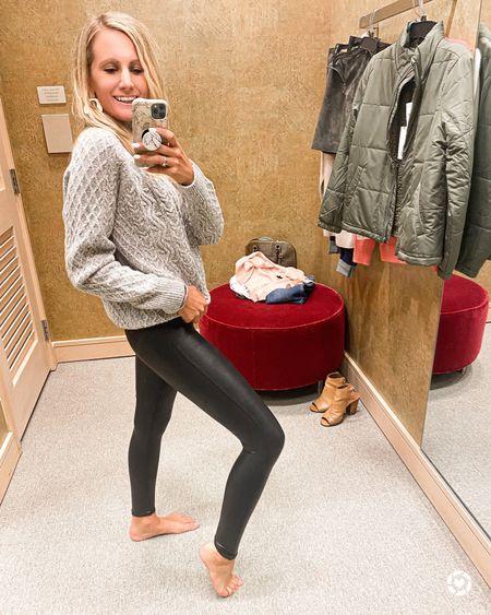 Spanx leggings Faux leather leggings  #LTKbacktoschool #LTKsalealert #LTKunder100