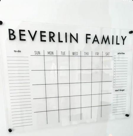 Custom family calendar  #etsy #home #laurabeverlin  #LTKfamily #LTKunder50 #LTKhome