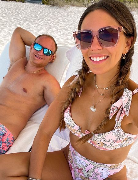 His and her bathing suits for vacation!    #LTKunder100 #LTKtravel #LTKswim