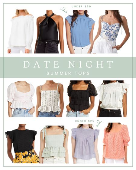 Summer date night tops   #LTKunder100 #LTKunder50 #LTKSeasonal