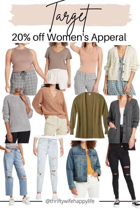 Labor Day weekend sales! 20% off women's apparel at Target!! Fall basics!   #LTKsalealert #LTKunder50 #LTKunder100