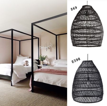 Our decorator wanted this black rattan pendant in Birdies room but last minute I opted out. This week I found it for $69! It's being installed on Thursday 😁   #StayHomeWithLTK #LTKunder100 #LTKhome