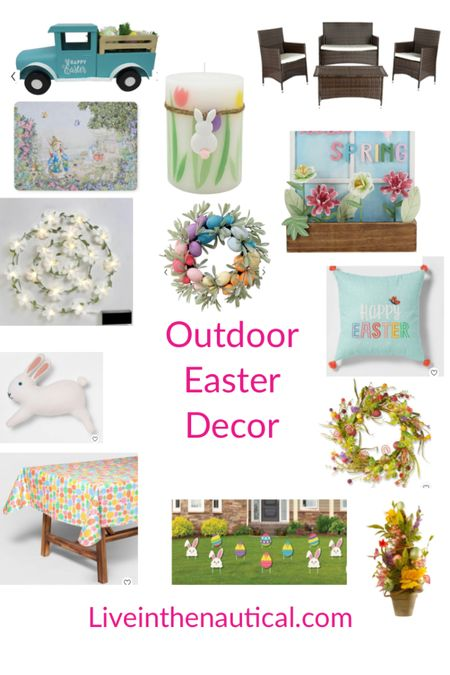 With the warm weather why not celebrate Easter outside? Here are some last minute decorations that can also take you into the summer!  #LTKSeasonal #LTKSpringSale #LTKhome