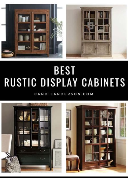 Best rustic display cabinets and curio cases for your living room, bedroom, entryway, dining room and more! ❤️  #LTKhome
