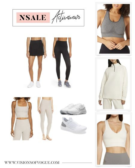 My favorite sports bras, workout clothes, leggings, and running shoes/sneakers from the Nordstrom Anniversary Sale (NSALE)! I also love this Nike tennis skirt and pullover! This Beyond Yoga and Alo set are amazing!   #LTKunder50 #LTKsalealert #LTKfit