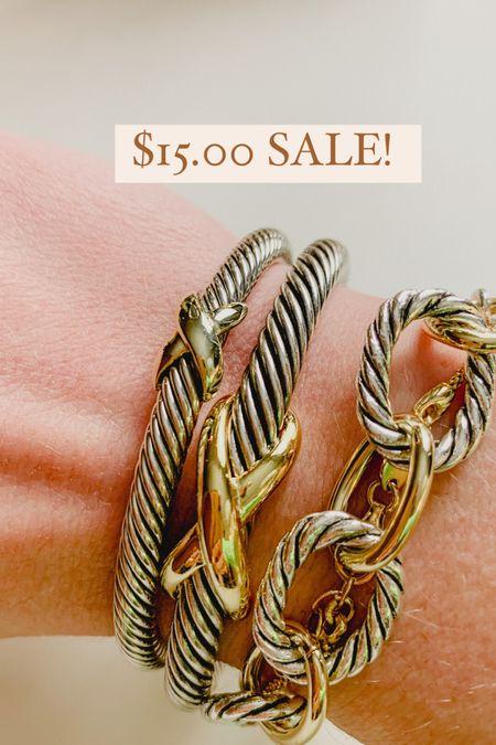 Cable bracelet sale the styled collection ✨   #LTKworkwear #LTKsalealert #LTKwedding