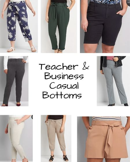 Rounding out the teacher/business casual category, here are some pants and shorts that will be gold for early school year when you still might be a little too toasty for pants!  #LTKcurves #LTKstyletip #LTKSeasonal