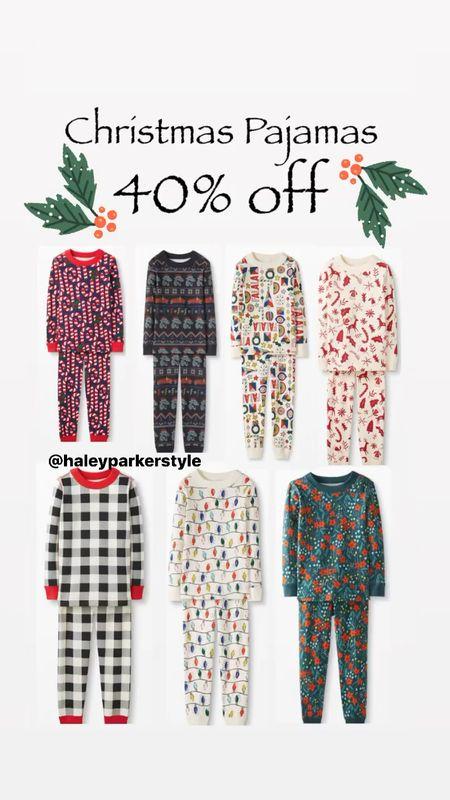 Christmas pajamas Kids Christmas pjs Pajama set Sibling matching pajamas Family matching pjs Hanna andersson   #LTKHoliday #LTKGiftGuide #LTKkids