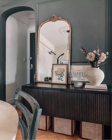 Entryway decor, fall decor, mirror, baskets    #LTKSeasonal #LTKhome