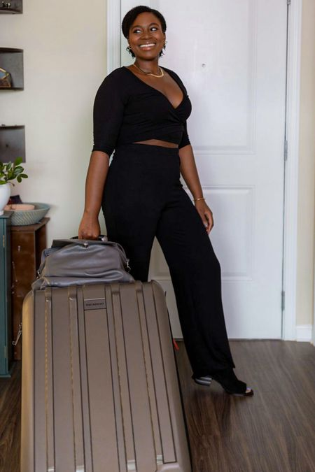 monochromatic makes for the perfect travel outfit l. Pair it your hard shell suitcase with a convertible backpack  #LTKcurves #LTKtravel #LTKfamily