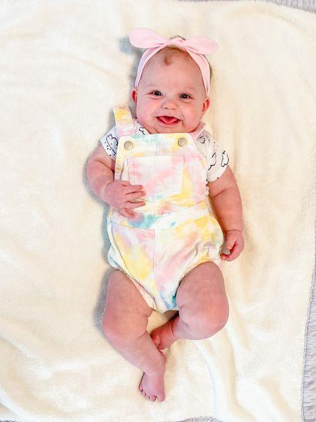 I die over these baby girl tie-dye overalls! 🥰     #LTKfamily #LTKkids #LTKbaby