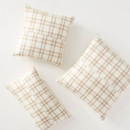 """Plaid pillows are such a cute option for fall decor without being too """"fall"""" and without a Halloween look!   #LTKSeasonal #LTKhome #LTKunder50"""
