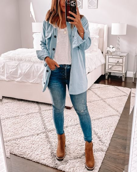 Obsessed with this $30 shacket from Nordstrom sale. Wearing size small. Ps get these boots.   #LTKunder100 #LTKshoecrush #LTKstyletip