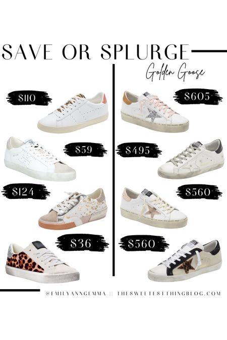Golden Goose, Golden Goose Sneakers, Fall Shoes, Sneakers, Save or Splurge, Emily Ann Gemma, White Sneakers, Leopard sneakers, Fall Fashion http://liketk.it/3oLVA
