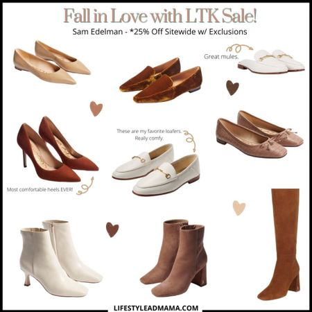Today starts the LTK FALL SALE!! So many good sales and this one is probably one of my favorites. Sooo many good things. I love my all my shoes from them! So comfy. #samedelman #ltkfall http://liketk.it/2WVv6 #liketkit @liketoknow.it   #LTKshoecrush #LTKunder100 #LTKsalealert