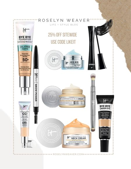 It Cosmetics - my go to daily makeup, skin care, eyebrow pencil   #LTKbeauty #LTKsalealert #LTKSale