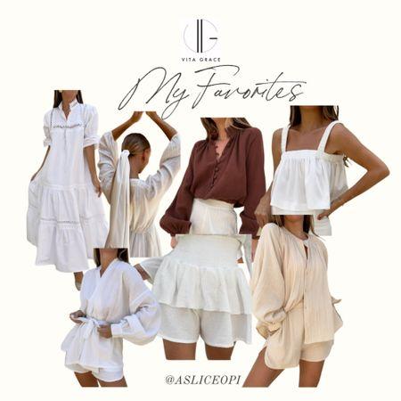 📷 Linked some of my favorites from Vita Grace! Some of my favorites from this boutique include- linen blouse, white maxi dress with detailing, white blouse, linen set, white shorts, kimono top, hair scarf! http://liketk.it/3mnQO #liketkit @liketoknow.it