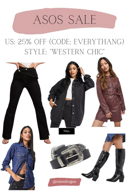 IG experts say western chic is a trend to try this fall!   Sharing some items that are 25% off in the US with code: EVERYTHANG   #LTKsalealert #LTKunder100 #LTKunder50