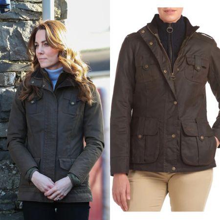 Kate wearing Barbou jacket #rain #fall  #LTKstyletip #LTKeurope