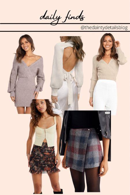 Daily finds: sweater dress, cozy sweater, mesh skirt, plaid skirt  #LTKstyletip #LTKunder100 #LTKSeasonal