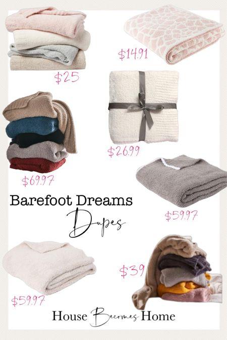 Barefoot dreams blanket dupes.   #LTKHoliday #LTKhome #LTKsalealert