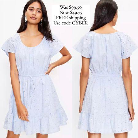 Pretty eyelet dress @liketoknow.it http://liketk.it/3hZ7n #liketkit #LTKunder50 #LTKunder100 #LTKsalealert