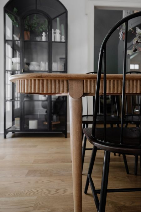 Dining Table, Arch Glass Cabinet, Dining Chairs  #LTKhome