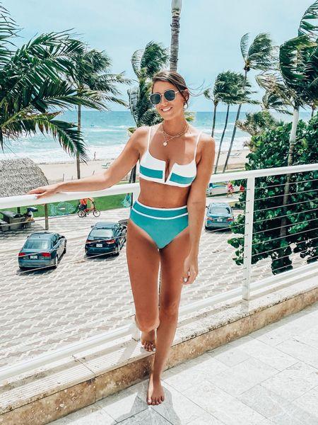 Mix and match bikinis Color block swimwear Swimwear on sale  End of summer sale swim  #LTKunder50 #LTKswim #LTKunder100