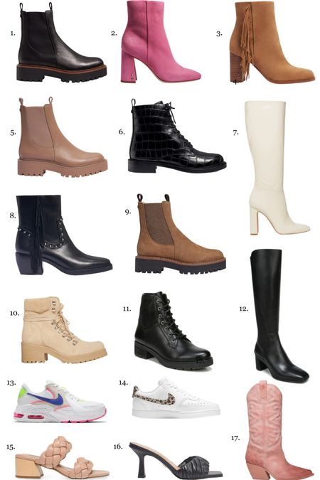 Fall shoes in my cart! Booties, boots, sneakers with a dash of heels… I tend to gravitate towards these styles and brands because I have a wide foot   #LTKshoecrush