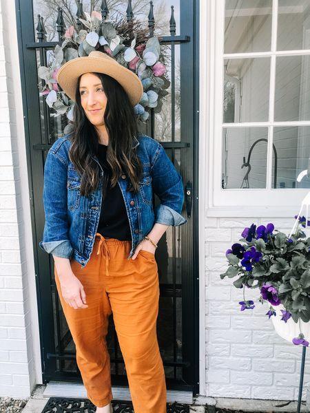 Favorite outfit for Fall. Loving linen pants for the transition into the next season.     #LTKunder50 #LTKsalealert #LTKstyletip