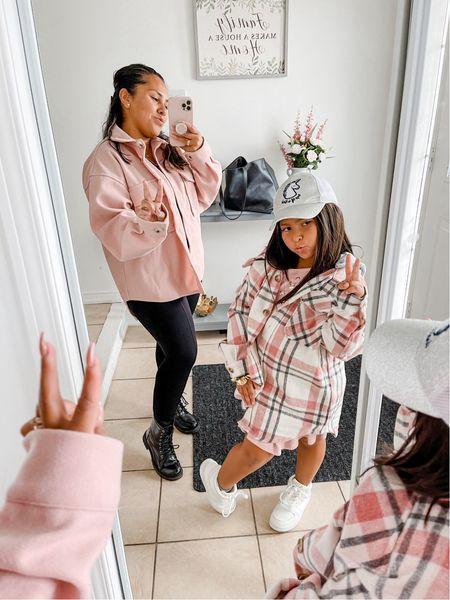 Mom & daughter 💖 #shackets #boots #blackboots #falloutfits #unicornhat #fallseason   #LTKfamily #LTKkids #LTKSeasonal