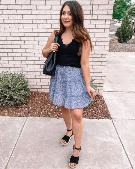 My Amazon Skirt is only $17 dollars and so comfy and flowy! I can't wait to pair this skirt for fall with a long cozy cardigan and some over the knee boots! #liketkit @liketoknow.it http://liketk.it/2UW7p #LTKunder100 You can instantly shop my looks by following me on the LIKEtoKNOW.it shopping app