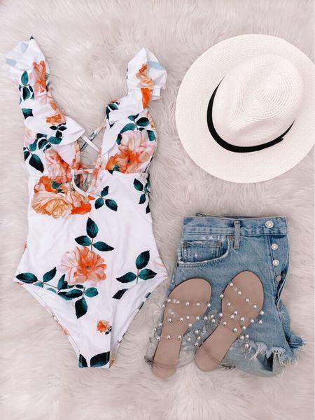 amazon swimsuit, amazon hat, agolde shorts #anna_brstyle http://liketk.it/3gC5Q #liketkit @liketoknow.it
