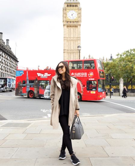 Hooded jacket and nikes in London. #fallstyle #nike  #LTKstyletip #LTKitbag