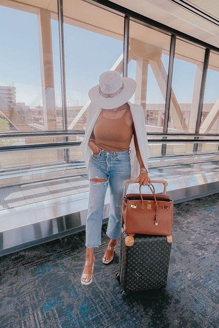 http://liketk.it/3fr2m #liketkit @liketoknow.it #LTKunder50 #LTKtravel #LTKshoecrush Emily Ann Gemma, track outfits, mom jeans, favorite jeans, hats, favorite sandals, packing list, beach vacation