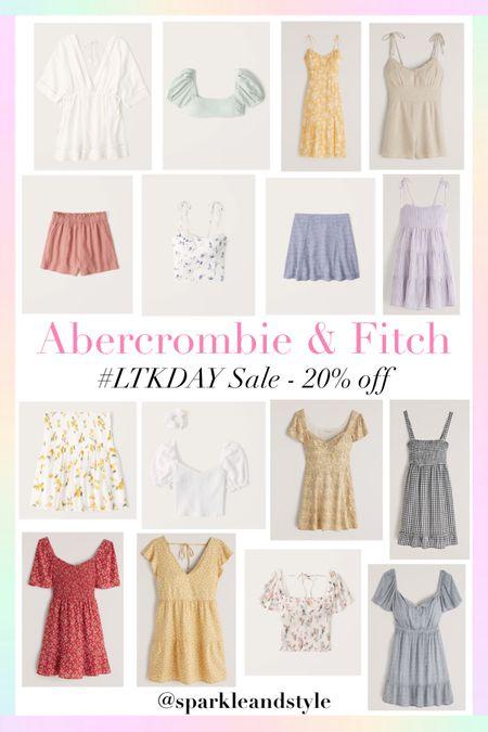 LTK Day Sale: Abercrombie & Fitch - 20% off   http://liketk.it/3hvxT @liketoknow.it #liketkit #LTKDay #LTKsalealert #LTKunder100   Summer clothes, summer styles, summer fashion, summer dresses, summer tops, summer skirts, summer swimsuits, swimsuit coverup, floral dresses, floral skirts, floral tops, midi dresses, gingham dress, shorts, puff sleeve top, smocked dress, hair scrunchie