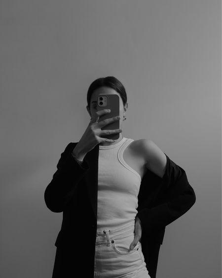 Wearing my favorite white tank top, white jeans and a black oversized blazer #springoutfit #summerfashion #competition  #LTKeurope #LTKunder50 #LTKSeasonal