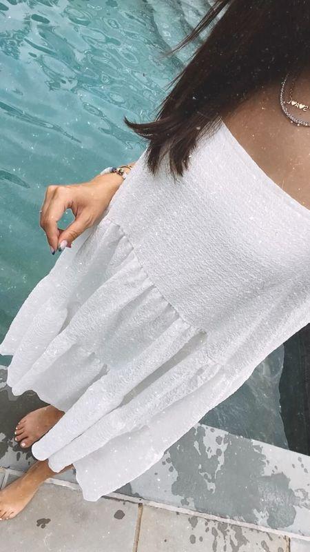 Perfect white dress for summer, wearing size small   #LTKSeasonal #LTKtravel