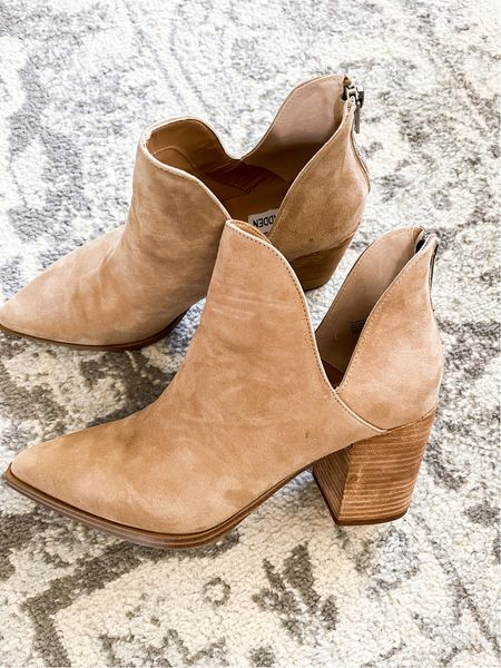 These booties are so cute and cankle friendly so if you have thicker ankles that's ok! Plus the size range is awesome they go up to size 13!! Love these Steve Madden booties #nsale   #LTKstyletip #LTKsalealert #LTKshoecrush