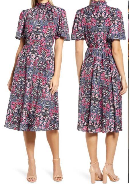 Ruffe Neck Dress. Nordstrom Anniversary Sale  #LTKworkwear #LTKunder100 #LTKsalealert