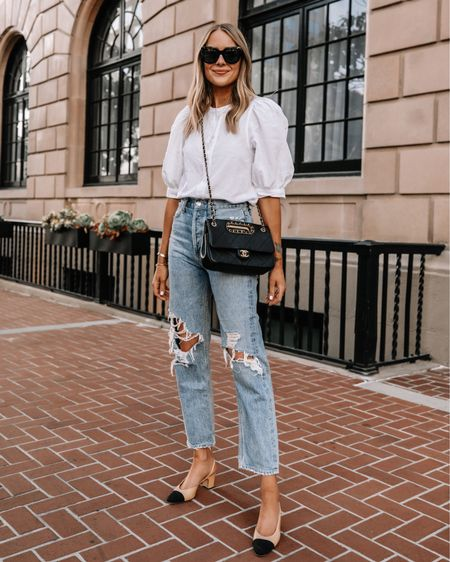 These relaxed ripped AGOLDE jeans are one of my favorite pairs of denim! (Size down / runs big) love them with heels for a dressed up look! #rippedjeans #shopbop #AGOLDE http://liketk.it/3hgp1 #liketkit @liketoknow.it #LTKstyletip #LTKunder100 #LTKunder50