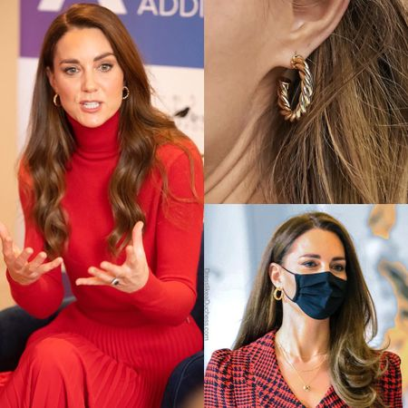 Kate wearing ASOS twist hoop earrings #gold #under20 #jewelry   #LTKunder50 #LTKstyletip