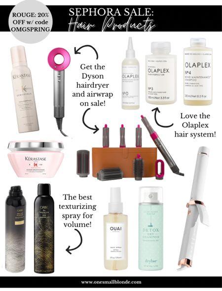 Sephora sale hair care picks! Use code OMGSPRING!   #LTKunder100 #LTKsalealert #LTKbeauty