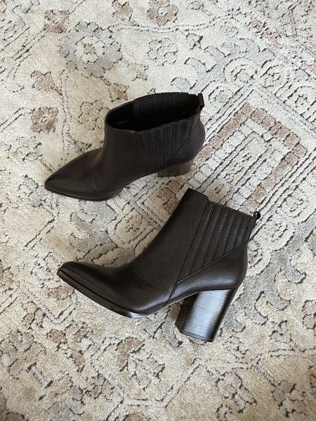 Marc fisher Alva black heeled boots - these run tts   #LTKshoecrush