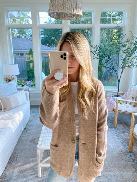 New cardigan blazer perfect for fall layering!! Wearing an xsmall!   #sweaterblazer #cardigan   #LTKstyletip