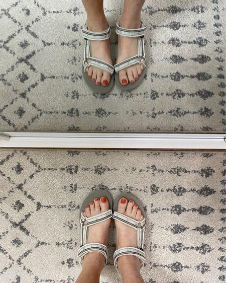Super comfortable sandal, Tevas, women's shoes, shoe Selfie, neutral sandals, summer shoes.    http://liketk.it/3h4Y7 #liketkit @liketoknow.it #LTKunder100 #LTKshoecrush