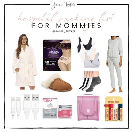 Hospital Packing List items for Mom! Check out my top picks. | #HospitalPackingList #HospitalList #HospitalMustHaves #MommyChecklists #MommyMustHaves #NewBornMustHaves #JaimieTucker   #LTKfamily #LTKhome #LTKkids