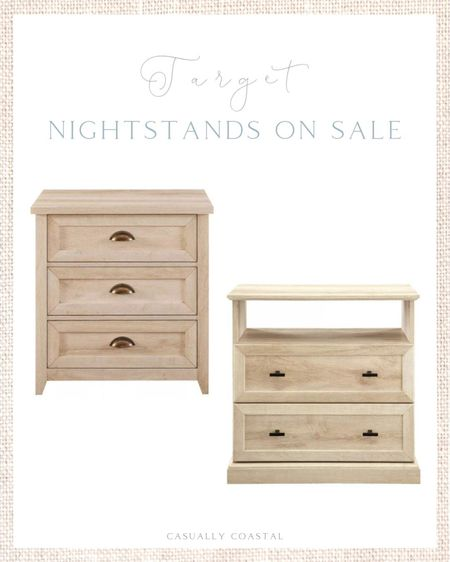 My two favorite affordable nightstands (both from Target) are currently on sale right now and are under $180! - coastal decor, beach house decor, beach decor, beach style, coastal home, coastal home decor, coastal decorating, coastal interiors, coastal house decor, home accessories decor, coastal accessories, beach style, blue and white home, blue and white decor, neutral home decor, neutral home, natural home decor, guest bedroom, guest bedding, guest room ideas, affordable nightstands, target nightstands, coastal nightstands, coastal end tables, coastal side tables, side tables, nightstands, end tables, light wood nightstands, light wood side tables, light wood end tables, bedroom furniture, coastal bedroom furniture, side tables on sale, nightstands on sale, end tables on sale, side tables with shelf, end tables with shelf, nightstands with shelf, nightstands with drawers, end tables with drawers, Target decor, Target finds, Target home, master bedroom nightstands, boys nightstands, girls nightstands, nightstands for kids  #LTKfamily #LTKhome #LTKsalealert